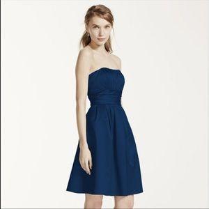 🎉5 for $25🎉 David's Bridal Blue Bridesmaid Dress